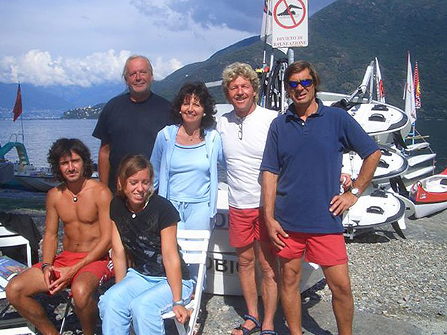 Your team at TOMASO SAIL & SURF in Cannobio at Lake Maggiore