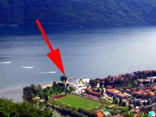 Looking down on Cannobio at Lake Maggiore...